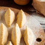 Sweet farmers cheese pierogi