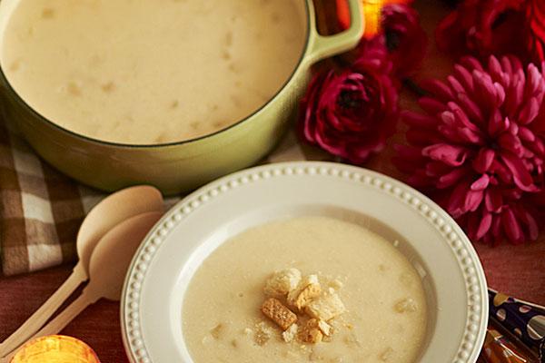 Polish potato soup Kartoflanka