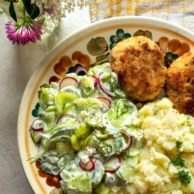 Mizeria: Polish Cucumber Salad