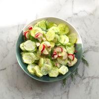 Mizeria: Polish Cucumber Salad with Sour Cream