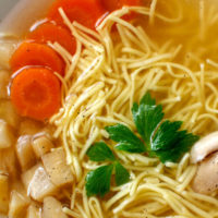 Rosół: Polish Chicken Soup with Fine Egg Noodles