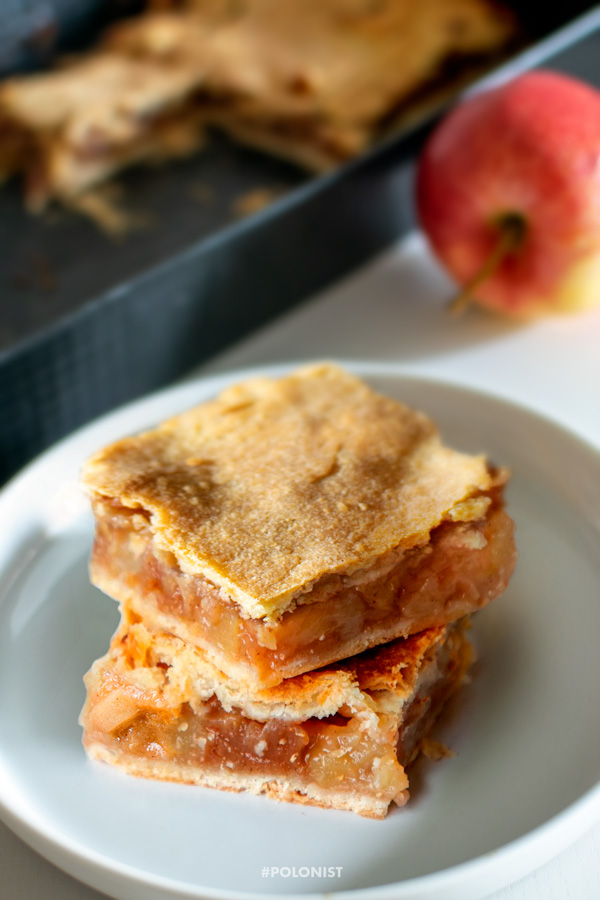 Slices of Classic Polish Apple Pie - Szarlotka