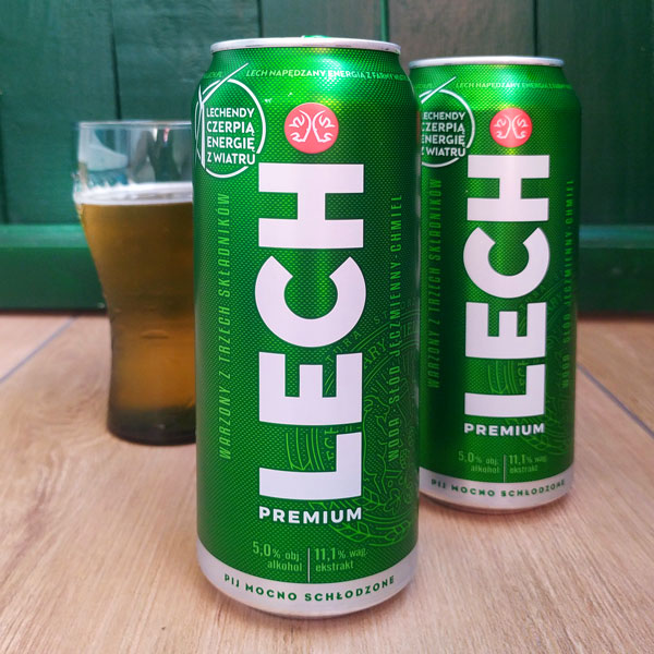 Lech - Polish beer in a can