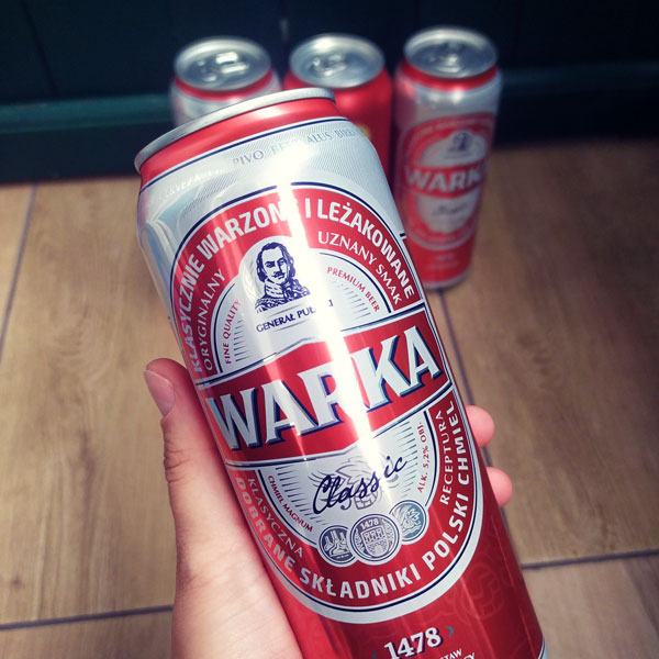 Warka (Polish Beer brand) in a can