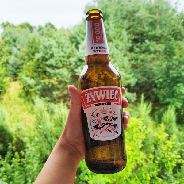 A bottle of Żywiec - Polish beer