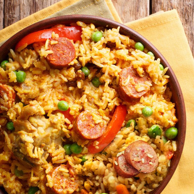 Kiełbasa Fried Rice Skillet
