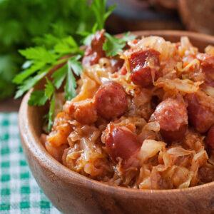 Kiełbasa Sausage and Sauerkraut