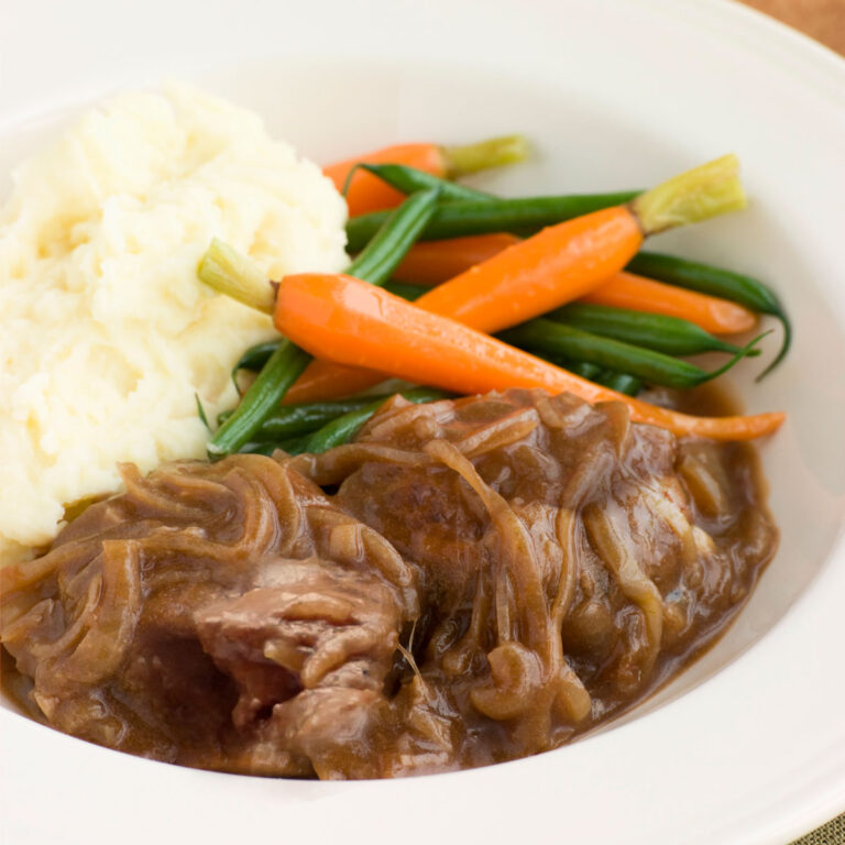 Liver and Onions in Gravy