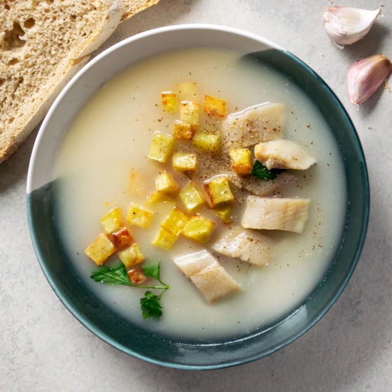 Lenten Sour Rye Soup with Herring