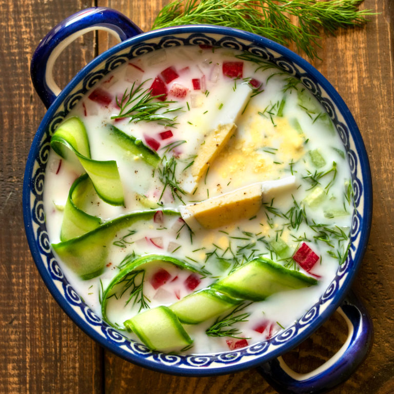 Cold Cucumber Soup with Dill (on Full Sour Pickle Brine)