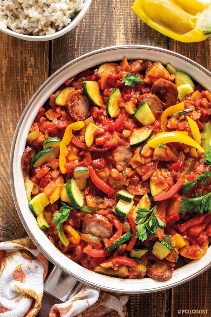 Polish-style Zucchini and Sausage Stew
