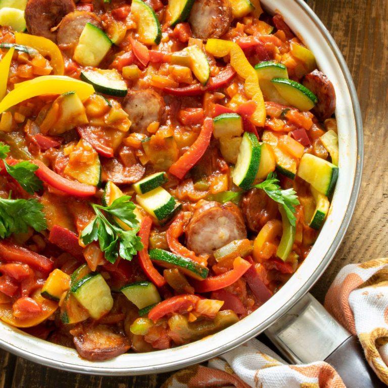 Sausage and Zucchini Stew (Zucchini Leczo)