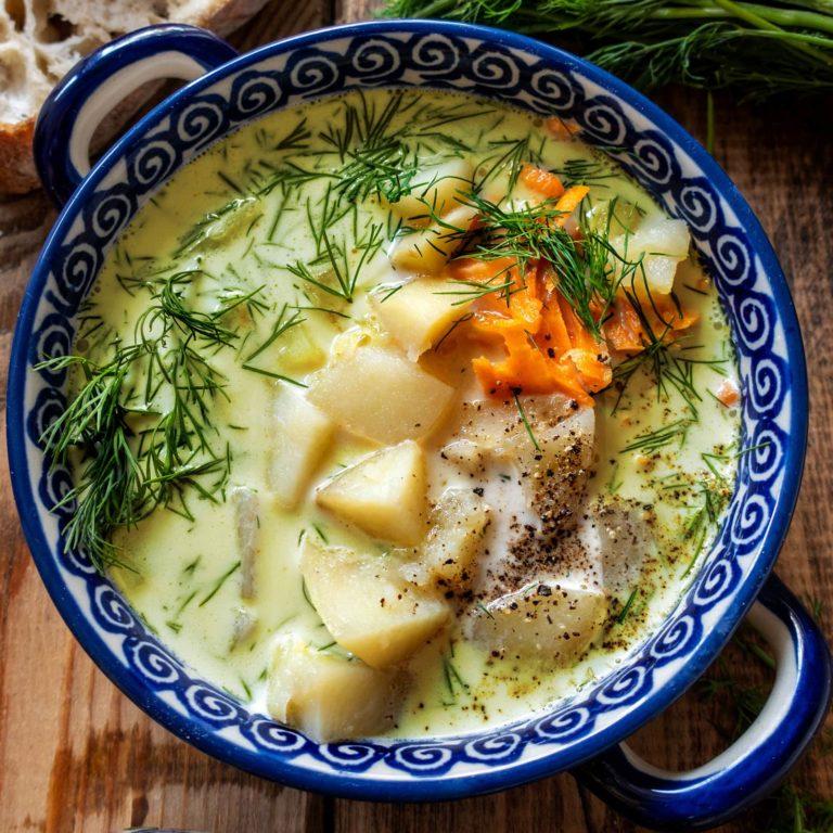 Creamy Potato & Dill Soup